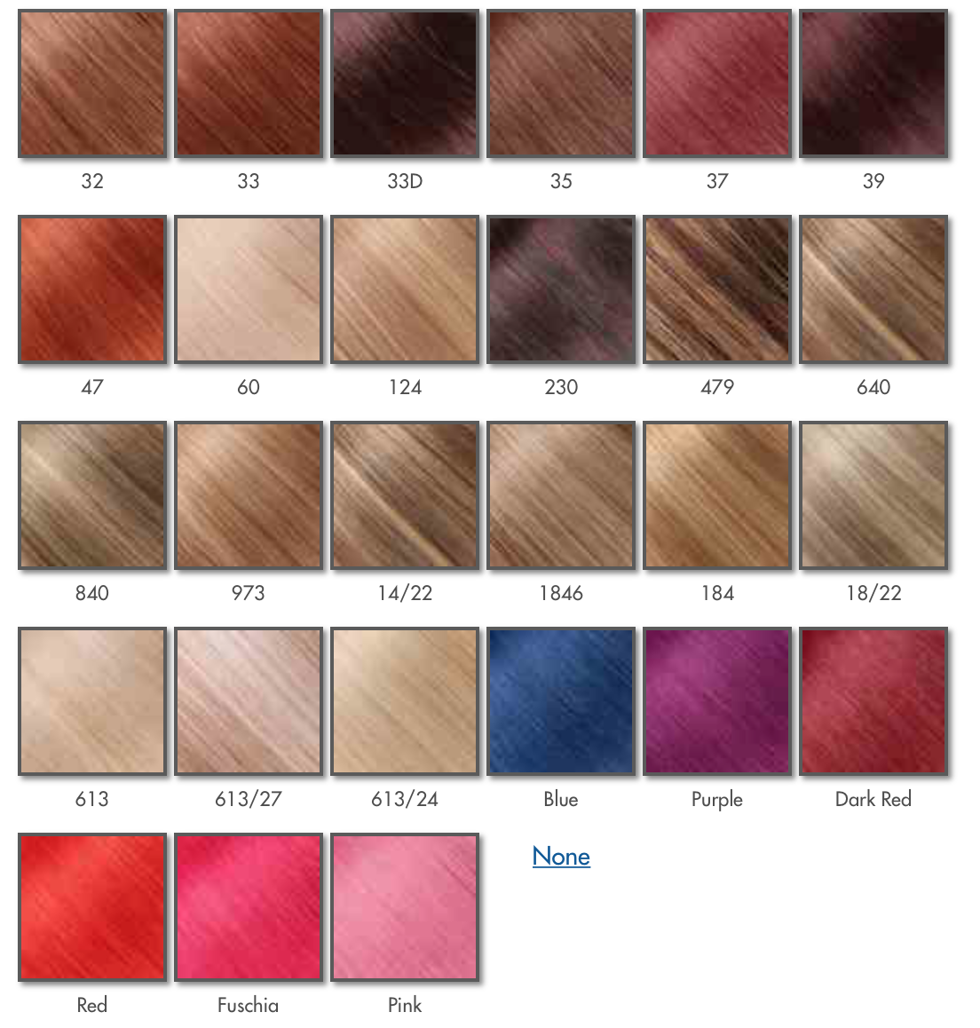 Products fabulonghair the colour chart below however for a more detailed colour match please email infofabulonghair sending a picture of your hair in a good natural day geenschuldenfo Images